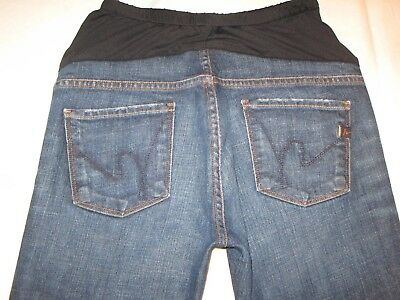 Citizens of Humanity Maternity Bootcut Jeans Sz 28 Dark Distressed w Stretch