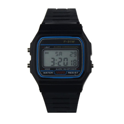 New Sports Alarm Wrist F91W Watch Casio LCD Digital Retro100% Authentic NM