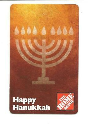 2006 Home Depot Happy Hanukkah Menorah Gift Card No $ Value Collectible