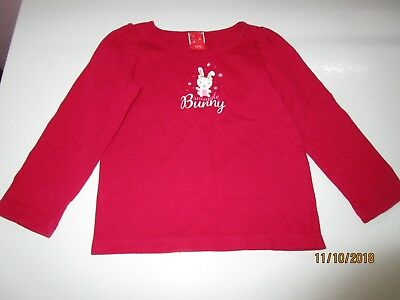 Snuggle Bunny Winter Red Tee T-shirt Girls 24 Months