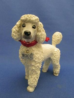 White Poodle Dog Figural Holiday Ornament