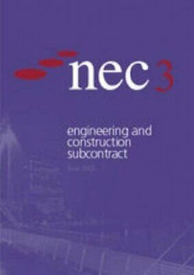 Nec3 Engineering and Construction Subcontract by NEC Paperback Book The Cheap