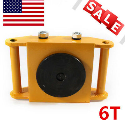 13200lb Machine Dolly Skate Machinery Roller Mover Cargo Trolley 6T Heavy Duty!!