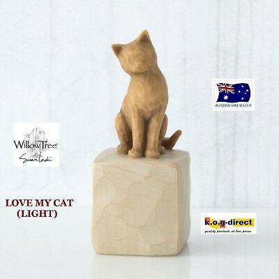 LOVE MY CAT (LIGHT) Willow Tree Demdaco Figurine By Susan Lordi Brand New In Box