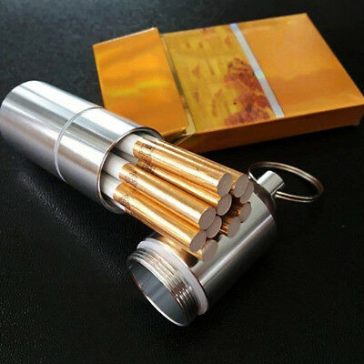 Metal Cigarette Case Aluminum Tobacco Storage Holder Pocket Box Container Cigar