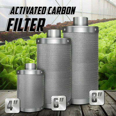 """4"""" 6"""" 8"""" Hydroponic Activated Carbon Filter Vent Duct Fan Grow Tent Ventilation"""