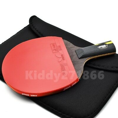 Double Happiness Hurricane Wang Table Tennis Racket Ping Pong Bat Short Handle