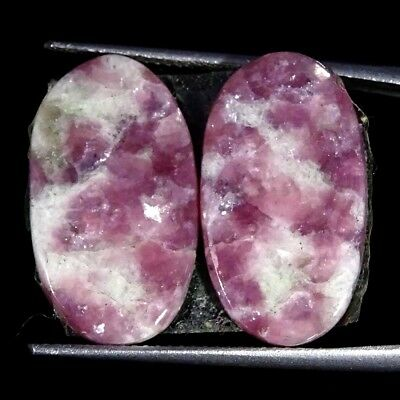 15.00Cts 100% Natural Lepidolite Oval Pair Cabochon Loose Gemstone