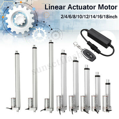 12V Linear Actuator 1500N 100mm-300mm Electric Wireless Motor Control Switch UK