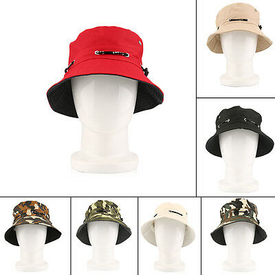 Unisex Bucket Hat Flat Hunting Fishing Outdoor Beach Fashion Summer Cap WM