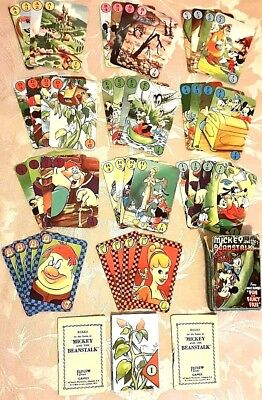 1947, Pepys, Walt Disney's, Mickey And The Beanstalk Card Game + 2 Rule Books