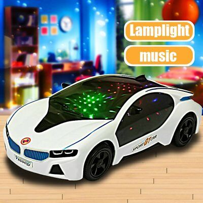 3D LED Flashing Light Car Toys Music Sound Electric Toy Cars Kids Children Gift