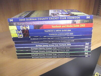 12 x Durham County Cricket Club Yearbooks: 2000-2013