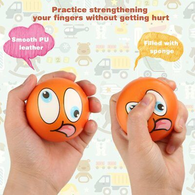 12PCS Facial Expression Stress Relief Sponge Foam Balls Hand Squeeze Toy VB