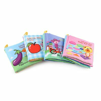 Newborn Infant 0-3 Years Educational Fabric Baby Toys Cloth Books JC