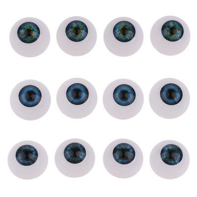 20mm Doll Replace Eyes Half Round Acrylic Eyeballs For Baby Dolls Supplies