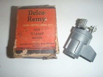 NOS GM DELCO REMY Ignition Switch 51 52 Chevrolet Car 1951 1952 CHEVY 1116469