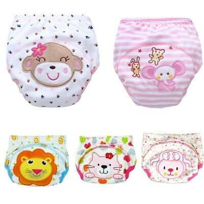 Reusable Nappy Training Pants 3 layers Baby Waterproof Potty Urinate Pants