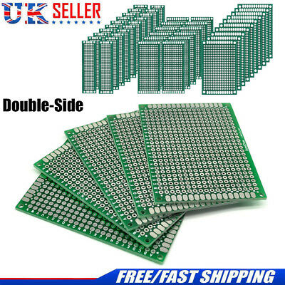Double-Side Prototype FR-4 PCB Stripboard Universal Printed Circuit Board 7 Size