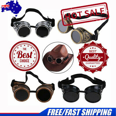 Cyber Goggles Steampunk Glasses Vintage Retro Welding Punk Gothic Victorian4RX