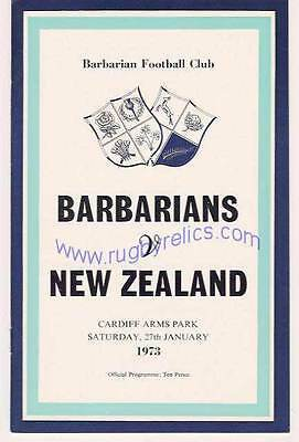 BARBARIANS v ALL BLACKS 1973 DVD & MEMORABILIA COLLECTION PROGRAMME DVD & OTHERS