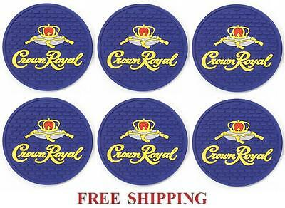 Crown Royal Canadian Whisky  Set Of 6  Bar Top Spill Mat Coasters New