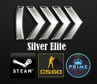 ✔SILVER ELITE ✔ Ranked Counter Strike Global Offensive STEAM Account With Prime