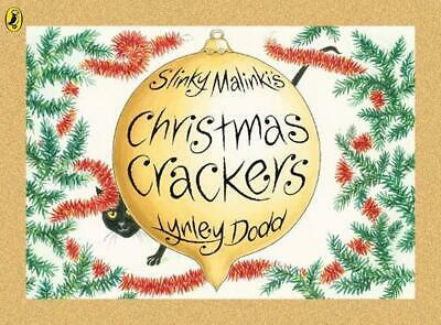 Slinky Malinki's Christmas Crackers by Lynley Dodd (English) Paperback Book Free