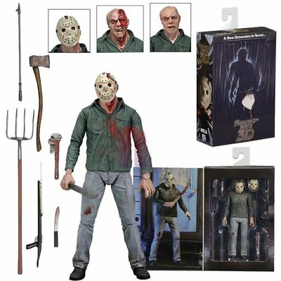 """New Friday the 13th Part III 3D Jason Voorhees Ultimate 7"""" Action Figure 1:12"""