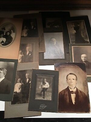 Cabinet Cards Lot Of 11 Antique Photography