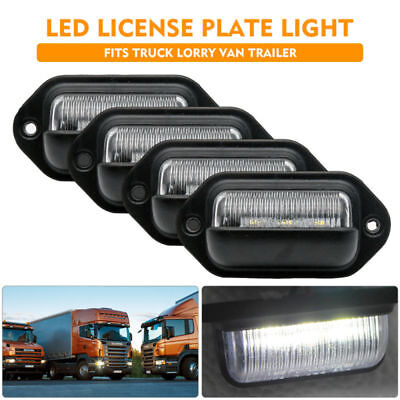4 x 3 LED License Number Plate Light Lamp Fit Lorry Truck Van Trailer 12V/24V