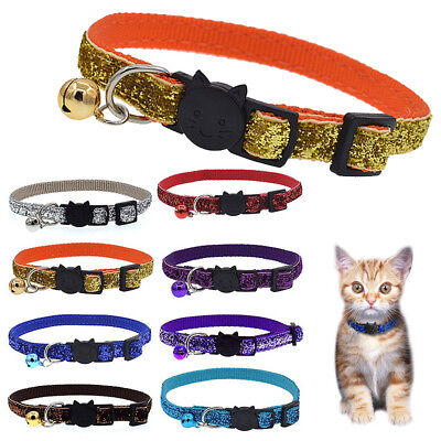 Safety Personalized Breakaway Cat Collar With Bell Neck Strap for Cat Teddy Dog