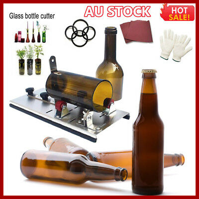 Glass Wine Beer Bottle Jar Cutter Machine Tool Kit Crafts Art Cutting DIY