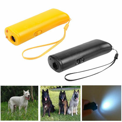 3 In 1 Anti Barking Dog Ultrasonic Stop Training Repeller Control Trainer Device