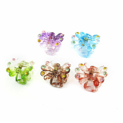 Dame ressort plastique Coiffure Hair Claw 5pcs Collier Clip Couleurs assorties