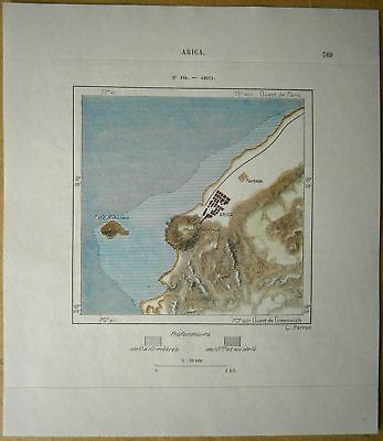 1893 Perron map ARICA, CHILE (#144)