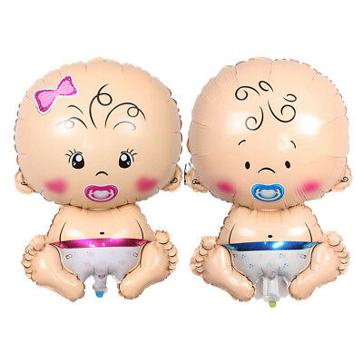 2pcs Baby Pacifier Doll Foil Balloon Baby Shower Gender Reveal Party Decor