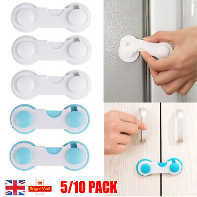 5-10pcs Cabinet Baby Locks Safety Child Proofing Lock Latch Fridge Cupboard Oven