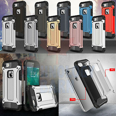 For iPhone 7 & iPhone 8 - Dual Layer Hybrid Shockproof Armor Hard Case Cover