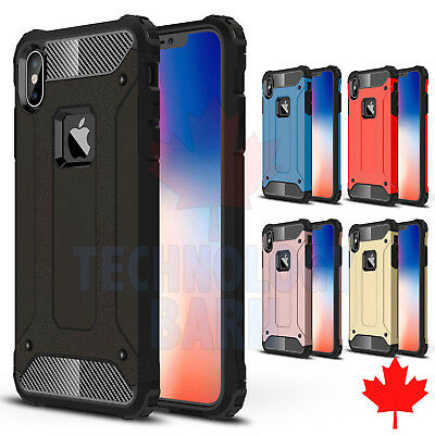 For iPhone XS Max - Heavy Duty Dual Layer Hybrid Strong Armor Hard Case Cover