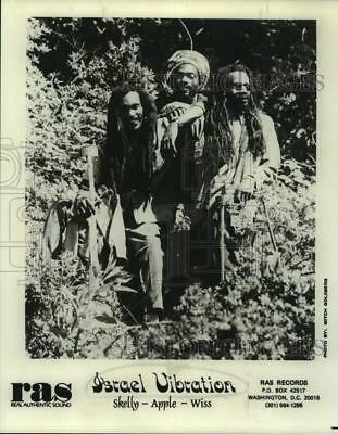 Press Photo Skelly, Apple and Wiss of Israel Vibration, Musical Group