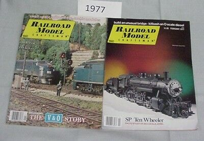 Railroad Model Craftsman Magazine Complete Year 1977