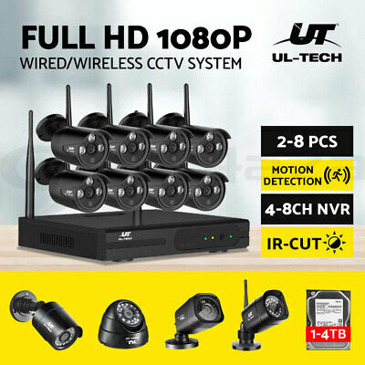 UL-tech Wireless CCTV Camera Security System 1080P WIFI 4CH 8CH DVR Outdoor IP
