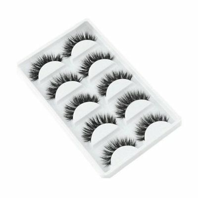 Natural Thick 5 Pairs Makeup False Eyelashes Long Handmade Eye Lashes Hot AU