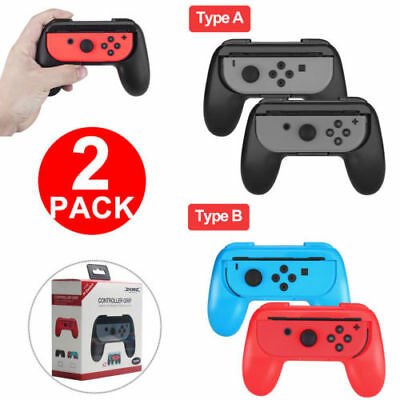2X For Nintendo Switch Joy-Con Grips Kit Controller Handle Handheld Holder UK