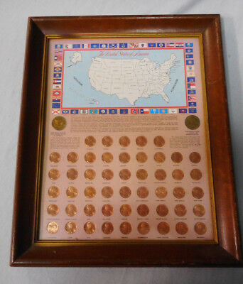 #Ii. Framed 50 State Embossed 1979 Usa Cent Coins