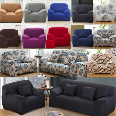 Easy Fit Colorful Thick Plush Velvet Couch Cover Stretch Sofa Cover Slipcover AU