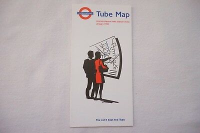 Jan 1995 London Underground Pocket Map Tube Map You Can't Beat The Tube VGC