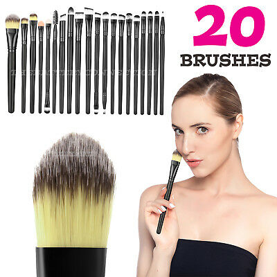 20pcs Makeup BRUSHES Kit Set Powder Foundation Eyeshadow Eyeliner Lip Brush Lw