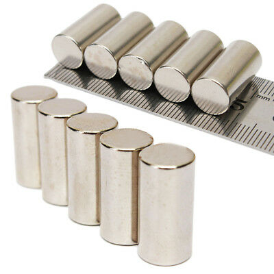 5Pcs 10x20mm N50 Strong Round Cylinder Blocks Rare Earth Neodymium Magnets Newly